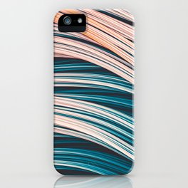Vintage White and Blue Abstract Strands iPhone Case