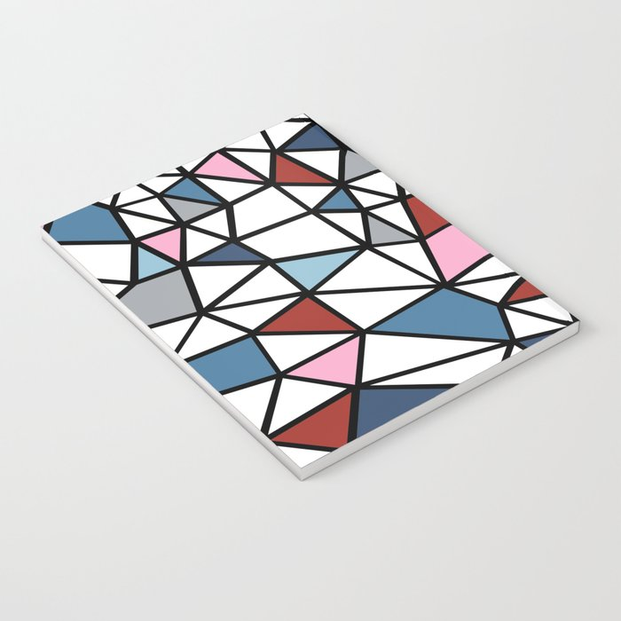 Segment Pink and Blue Notebook