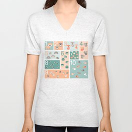 Woodland counting Unisex V-Neck