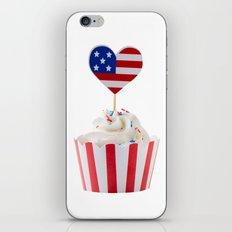 Independence day cupcake iPhone & iPod Skin