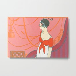 VALENTINES DAY GIFT FOR HER BRIDES MOTHERS GIRLFRIEND lovers paris vogue 1930s vintage retro amazing Metal Print