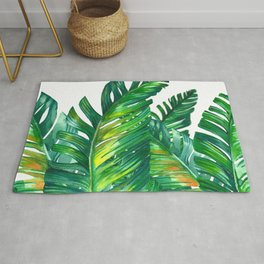 tropical green 2 Rug
