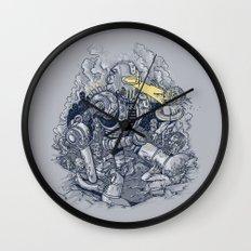Zombie Exterminator Wall Clock