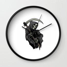 Bored to Death Angel Art Shop Deathworld Deathwish by Color Cult Dealer Wall Clock