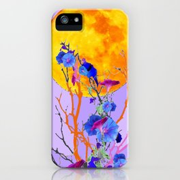 SURREAL LILAC MORNING GLORY FULL MOON iPhone Case