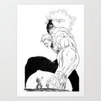 man-ga  Art Print