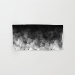 Ombre Black White Clouds Minimal Hand & Bath Towel