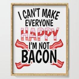Bacon ham meat grilling steak joke gift Serving Tray