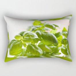 Ocimum basilicum green basil Rectangular Pillow