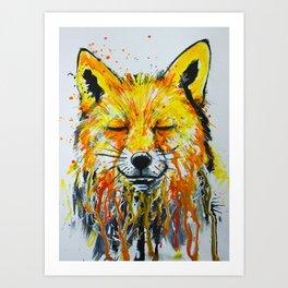Foxy Fox Art Print