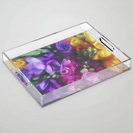 Freesias Acrylic Tray