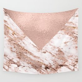 Pastel pink warm rose marble Wall Tapestry