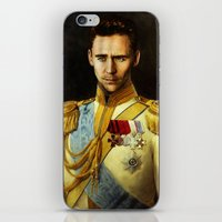 tom hiddleston iPhone & iPod Skins featuring Tom Hiddleston 001 by TheTreasure