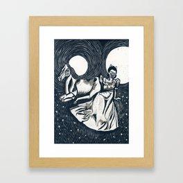 Princesses, monsters, ponies, oh my! Framed Art Print