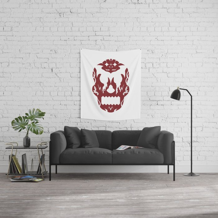 Bloody Sugar Skull Wall Tapestry