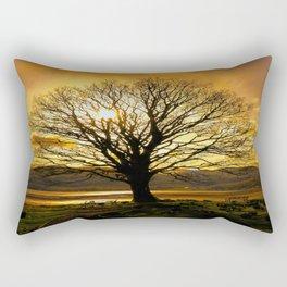 Tree of Fire Rectangular Pillow