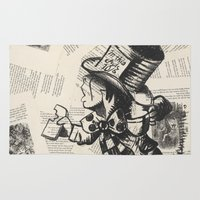 mad hatter Area & Throw Rugs featuring Mad Hatter by Jordan Renae Arp