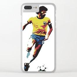 Socrates, Brazilian soccer superman Clear iPhone Case