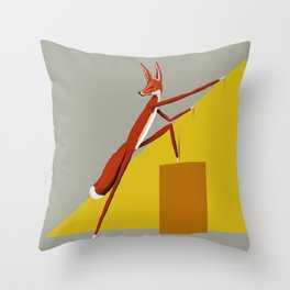 Fox is leaving Throw Pillow