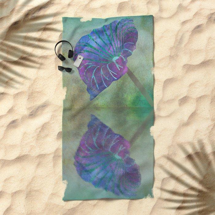 Tropical pond Beach Towel