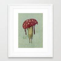 mushroom Framed Art Prints featuring Mushroom by Lime