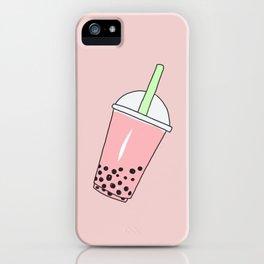 Strawberry Milk Bubble Tea iPhone Case