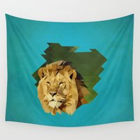 lion Wall Tapestries featuring lion by gazonula