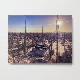 Desert Landscape Sunset | Vanlife in Baja California Metal Print