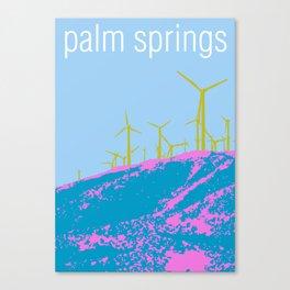 Palm Springs Wind Farm, California Canvas Print