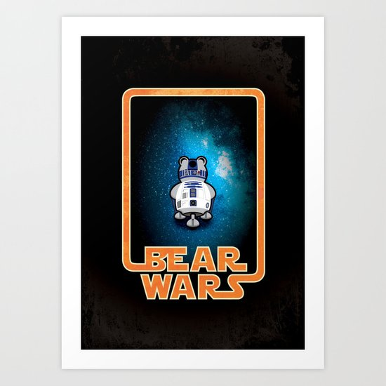 Bear Wars - GRRR2D2 Art Print