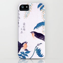 Swallows and Wisteria B iPhone Case
