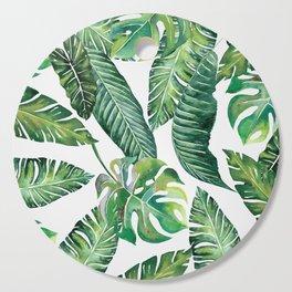 Jungle Leaves, Banana, Monstera #society6 Cutting Board