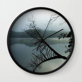 Smokey lake Wall Clock