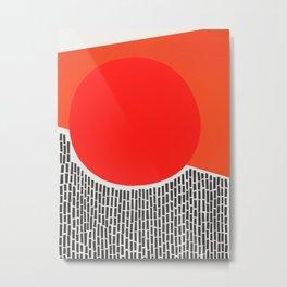 Sunshine And Rain Abstract Metal Print