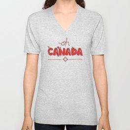 Oh Canada Day (Handlettered) Unisex V-Neck