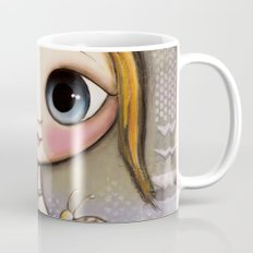 Doll big blue eyes with bee and snail Mug