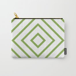 Nested Green Squares Carry-All Pouch