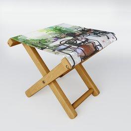 Watercolor Cafe Folding Stool