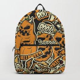 Jack-O-Lantern Pattern Backpack