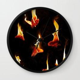 Burn Wall Clock