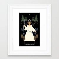 tarot Framed Art Prints featuring Tarot: Empress by Merlin