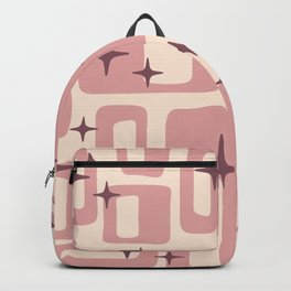 Retro Mid Century Modern Abstract Pattern 577 Dusty Rose Backpack