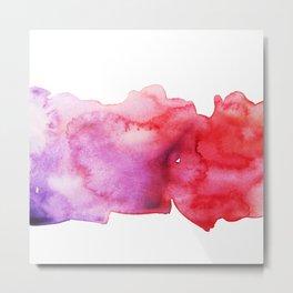 Pink watercolor stain Metal Print