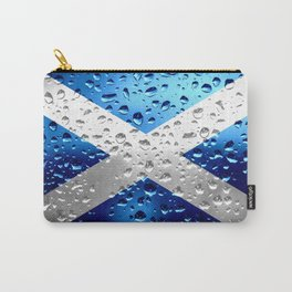 Flag of of Scotland - Raindrops Carry-All Pouch