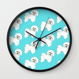 Bichon Frise on aqua / teal / cute dogs/ dog lovers gift Wall Clock