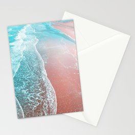 Sea Blue + Rose Gold Stationery Cards