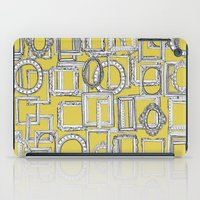 frames iPad Cases featuring picture frames aplenty yellow by Sharon Turner