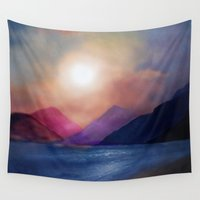 calm Wall Tapestries featuring Calm by Viviana Gonzalez