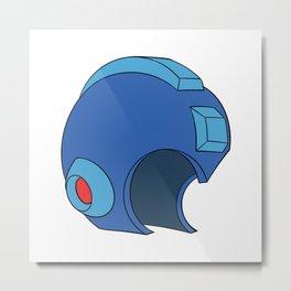 Unmasked Mega Man Metal Print