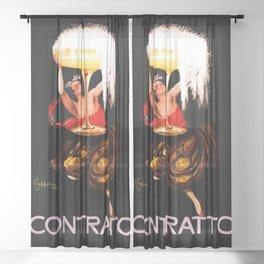 Leonetto Cappiello Advertising Poster Contrato Wine Sheer Curtain